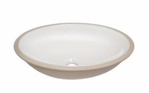 Cuba de embutir oval branca eternit, R$ 38,00