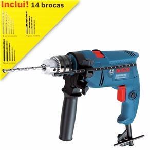 Furadeira Bosch 550w + kit com 14 brocas. De R$ 305,00 por R$ 280,00